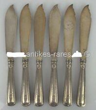 6 alte Fischmesser in 800 (Ag) Silber, Koch & Bergfeld mit Adelswappen