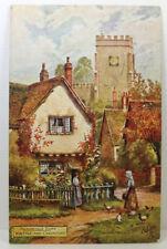 POSTCARD Picturesque Essex, Writtle nr Chelmsford; Tuck Oilette; Postmark 1906