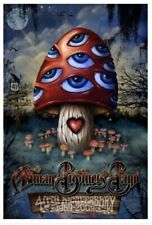 Allman Brothers Band 40th Anniversary 2009 Wood Lenticular 3-D Mushroom Poster