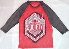 "Women's Size M Society Clothing Red & Black T-Shirt ""Live Free Make Change"""