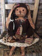 New ListingPrimitive Décor folk art Rabbit Bunny Doll Easter Ooak