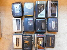 Vintage Lot Walkman AM/FM Radio Cassette Player - Untested For Parts or Repair
