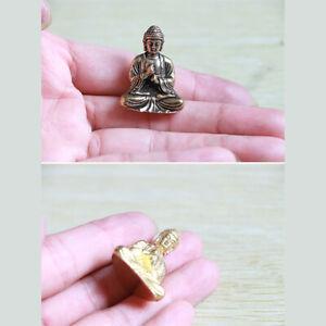 Pure brass miniature shakyamuni Buddha decoration home decor miniature figur_cd