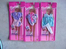 Lot of 3 1990s Barbie Sleep n Fun Fashion Outfits NIP 68021