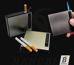 Zigarettenetui mit Sturmfeuerzeug als Geschenk Zigarettenspender Zigarettenbox
