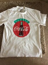 Pull And Bear Coca-Cola Logo White Short Sleeve Cotton T Shirt Size Medium
