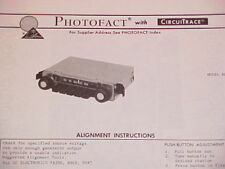 1974 CLARION AM RADIO SERVICE MANUAL RE-126A CHEVROLET FORD CHRYSLER DODGE BUICK