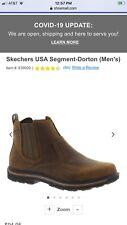 mens sketcher memory foam boots size 11 m