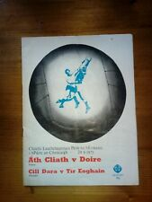 GAA 1975 All Ireland football semi-final Dublin v Derry official match programme