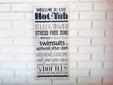 Welcome To Our Hot Tub, Hot Tub Rules Sign, Fun Hot Tub Wood Sign, Pool Decor