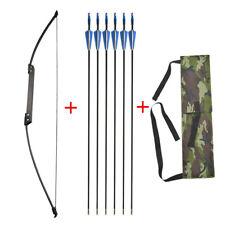 Archery Recurve Bow Fiberglass Arrow Set 35lbs-40lbs Straight Bow Practice Shoot