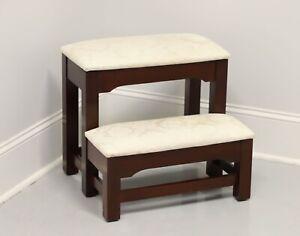 CRAFTIQUE Solid Mahogany Mellowax Finish Bed Steps