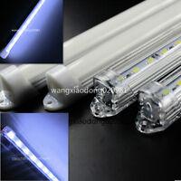 10x 50cm 5050 Cool White 36 SMD LED strip Aluminum case cover end cap 12V 24V DC
