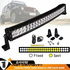 26INCH 144W COMBO CURVED LED LIGHT BAR  6000K 4WD OFFROAD SUV ATV+ a wiring kit
