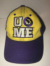 Authentic WWE You Cant See Me Purple and Yellow Hustle Loyalty Respect Hat Cena