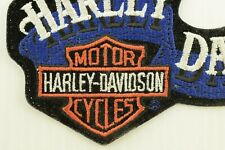 Harley Davidson Motor Cycles Logo w/ Banner Iron-On Patch