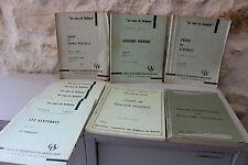 Gros lot de livres Cours de Sorbonne Université Sciences SPCN - Années 60