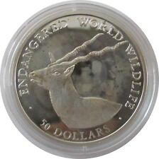 Cook Islands 50 Dollars 1990, Endangered World Wildlife Gabelbock ,Pol.Platte