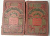 1929 Lot 2 Vol Les Voyages Extraordinaires Original French book By Jules Verne