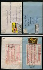 Thailand  2  registered covers        MS0121