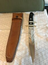 "R.W. Loveless Knife ""Maker"" Custom Big Bear Sub-Hilt Fighter Knife-Sheath. Mint!"