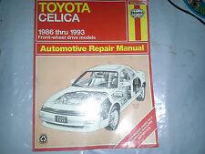 Haynes Repair Manual Toyota Celica 1986-93 FRONT-WHEEL DRIVE models