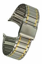 In acciaio inox-Cinturino BICOLOR CHIUSURA A CLIP NASTRO di RICAMBIO Uhrband 18 mm