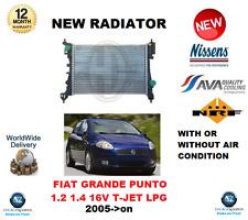 POUR FIAT GRANDE PUNTO 1.2 1.4 16V TJET LPG 2005> RADIATEUR QUALITÉ FABRICANT