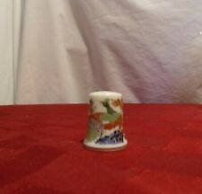 Porcelain Peacock Thimble, great condition