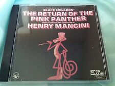 Rare 1991 Japan CD : The Return of The Pink Panther ~ Henry Mancini ~ RCA