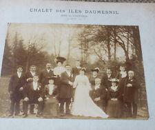 Photographie ancienne 1900 Mariage Iles Daumesnil Bois de Vincennes