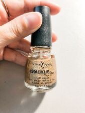China Glaze Crackle Glaze Nail Lacquer  Tarnished Gold NEW
