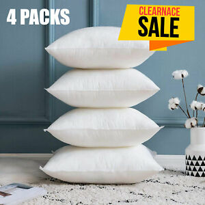 4 Pack Cushion Pads Deep Filled Hollowfiber 20 x 20 In Cushion Inserts Inners