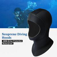 5mm Neoprene Waterproof Scuba Diving Hat Snorkeling Swim Face Mask Hood Cap