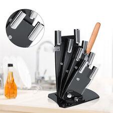 Kitchen Acrylic Knife Shelf Rack Storage Block Cutlery Holder Set With Peeler DY