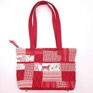 Bella Tayllor Red Quilted Shoulder Bag Purse