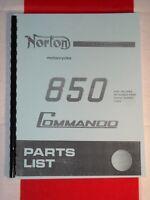Parts Manual 1972 1973 1974 Mk2 Fits Norton Commando 750cc 850cc Non Electric
