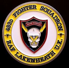 USAF 493rd Fighter Squadron F-15C RAF Lakenheath Grim Reapers Challenge Coin