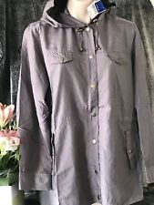 Ladies Size 20 Jacket New - Outerwear  - RP $49.95 Lightweight Hooded Mocha