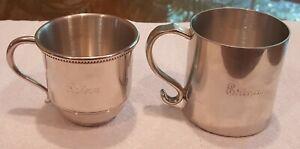 Two (2) Vintage Salisbury Pewter Cups