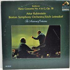 """Beethoven Piano Concerto No. 4"" Artur Rubinstein Boston Symphony 1965 RCA Vinyl"