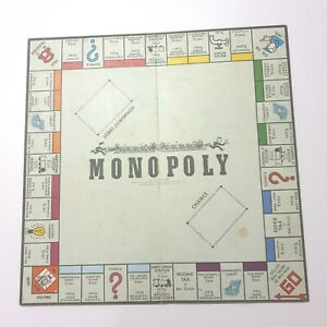 Vintage Monopoly Board ONLY in Pounds Pre-decimal