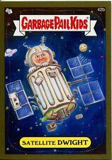 Garbage Pails Kids 2014 Series 1 Gold Parallel Base Card 42b SATELLITE DWIGHT