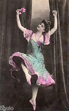 BD526 Carte Photo vintage card RPPC Femme woman danse robe dress fashion mode
