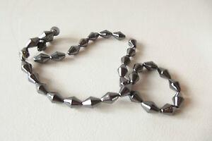 HEM65 : 35 pcs x Hematite 12mm Bicone Beads