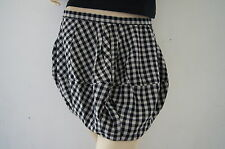 TOPSHOP Summer Black Checked Tulip Puffball Mini Skirt Size 10 NEW £35 PU1