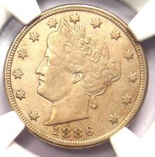 1886 Liberty Nickel 5C - NGC XF45 (EF45) - Rare Date Certified Coin - Near AU!