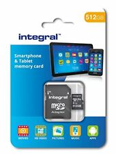 Integral 512 GB microSDXC Class 10 Memory Card for Smartphones and Tablets, Up t