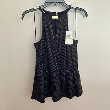 Michael Kors Women's Sleeveless Blouse Gold Combo in Size Medium BRAND NEW