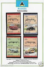 """St. Lucia """"Leaders of the World"""": Complete Automobiles SPECIMEN Set #686-93 (16)"""